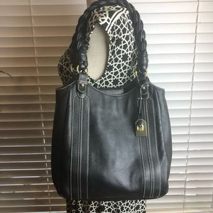 Ralph Lauren black leather hobo shoulder bag